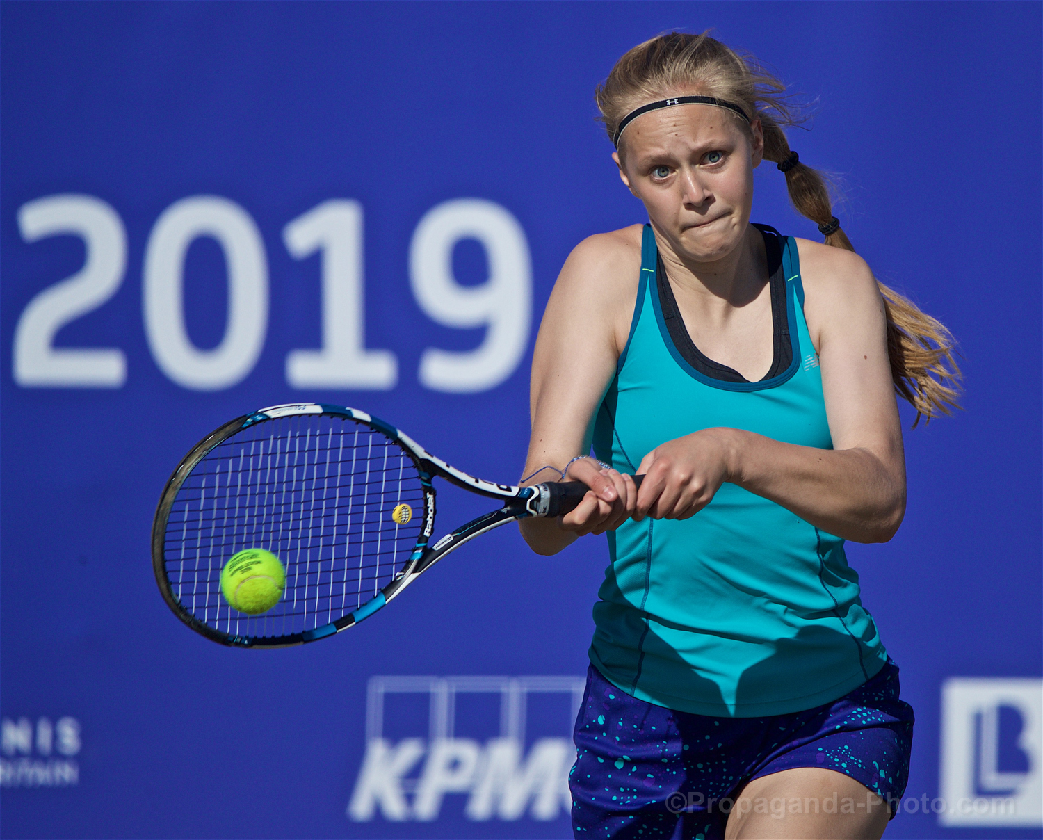 LIVERPOOL, ENGLAND - Friday, June 21, 2019: Rhona Cook (GBR) during Day Two of the Liverpool International Tennis Tournament 2019 at the Liverpool Cricket Club. (Pic by David Rawcliffe/Propaganda)