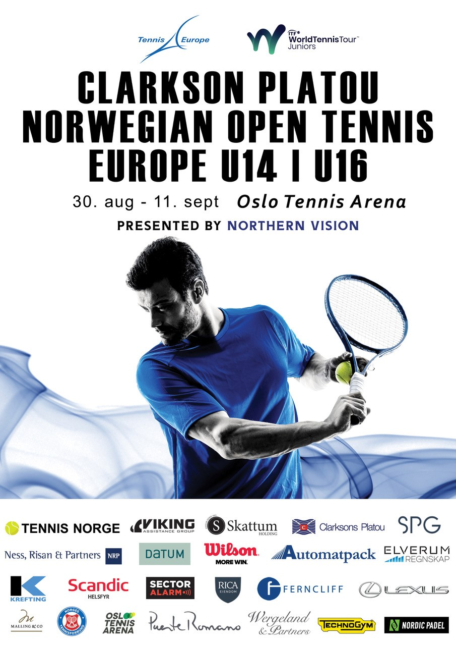 norwegian tennis poster